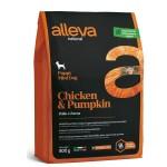 Alleva Natural корм для щенков с курицей и тыквой Мини - 0,8кг