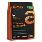 Alleva Natural корм для щенков с курицей и тыквой Медиум - 0,8кг