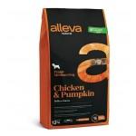 Alleva Natural корм для щенков  с курицей и тыквой Медиум - 12кг