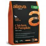 Alleva Natural корм для щенков с курицей и тыквой Мини - 2 кг