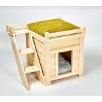 Деревянный домик для кошек и небольших собак ДДС-01