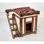 Деревянный домик для кошек и небольших собак ДДС-01БП