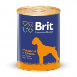 9273  Brit Red Meat & Liver кон.д/собак Говядина и печень 850гр