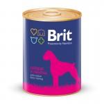 0496/1113 Brit Beef & Heart кон.д/собак Говядина и сердце 850гр