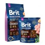526253 Brit Premium by Nature Junior S сухой корм для молодых собак мелких пород -1кг