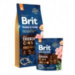 526352 Brit Premium by Nature Adult M сухой корм для взрослых собак средних пород с курицей 3кг