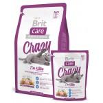 132602 Brit Care Crazy Kitten для Котят, беременных и кормящих кошек 400гр