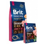 526420 Brit Premium by Nature Junior L сухой корм для молодых собак крупных пород -3кг