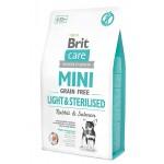 521074 Brit Care Mini Light & Sterilised беззерновой корм д/собак мини-пород с избыточным весем/стерилизованных -400гр