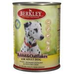 75072 Беркли кон. д/собак кролик с овсяными хлопьями 400гр*6