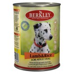 75075 Беркли кон. д/собак ягненок с рисом 400гр*6