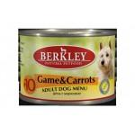 75006 Беркли кон. д/собак дичь с морковью №10 200гр*6