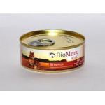 Biomenu ADULT Консервы для кошек мясной паштет с Ягненком  95%-МЯСО 100гр*24
