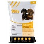 BLITZ сухой корм для щенков средних и мелких пород 3кг