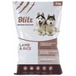 BLITZ сухой корм для взрослых собак Ягненок/рис 3кг