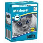 BOZITA Feline Mackerel, мясные кусочки в желе со Скумбрией - 370г