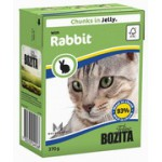 BOZITA Feline Rabbit, мясные кусочки в желе с Кроликом - 370г
