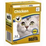 BOZITA Feline Minced Chicken, мясные кусочки в желе с Рубленой Курицей - 370г