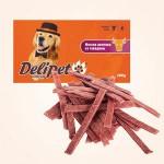 0652 DeliPet Лакомство д/собак Мягкие ломтики из говядины 100гр*48
