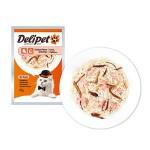 DeliPet Влажное Лакомство для кошек Филе цыпленка с креветками 85гр