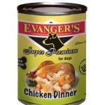 20106 ЭВАНДЖЕРС Dinner Chicken кон.д/собак обед из Курицы Беззерн/Кошерн 369гр*12