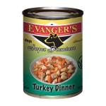 20113 ЭВАНДЖЕРС Dinner Turkey кон.д/собак обед из Индейки Кошерн 369гр*12