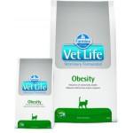25180 FARMINA Vet Life OBESITY диета для кошек при ожирении, подходит для питания стерилизованных животных 0,4кг