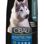 30955 CIBAU Sensitive Fish Medium & Maxi чувствительное пищеварение для собак средних и крупных пород с рыбой 2,5кг