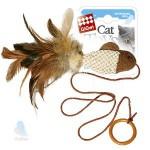 GiGwi 75026 Игрушка для кошек Рыбка дразнилка на палец с кольцом 1*96