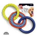 *GiGwi 75047 Игрушка для собак 3 кольца из комбинированных материалов 1*48
