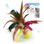 GiGwi 75068 Игрушка для кошек Мячик с перьями 1*100