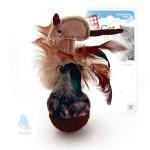 GiGwi 75070 Игрушка для кошек Мышка-неваляшка с перьями 1*100