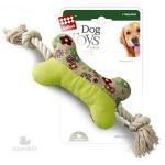 *GiGwi 75080 Игрушка для собак Кость на канате с пищалкой 1*48