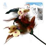GiGwi 75081 Дразнилка для кошек с перьями на стеке 1*96