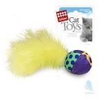 GiGwi 75277 Игрушка для кошек Мячик с перьями 4см*100