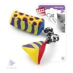 GiGwi 75279 Игрушка для кошек Тканевая дразнилка с кошачей мятой 18см*100