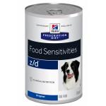 HILLS (Хиллс) Диета консервы для собак Z/D лечение острых пищевых аллергий 370г (США) 6шт