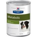 HILLS (Хиллс) Диета консервы для собак Metabolic для коррекции веса 370г (США) 6шт