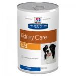 HILLS (Хиллс) Диета консервы для собак K/D лечение заболеваний почек 370г (США) 6шт