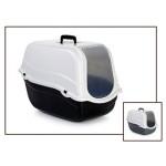 Beeztees 400480 Romeo Туалет-домик для кошек черно-белый 54*33*42см