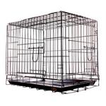 KREDO 043С Клетка для собак окрашенные с пластмассовым поддоном 93*57*64см