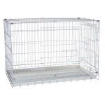 KREDO 042C Клетка для собак окрашенная с пластмассовым поддоном 78*48*55см