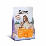 7027 KARMY Hair & Skin д/ кошек, поддерживающий здоровье кожи и шерсти Лосось - 400гр