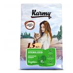 6936 KARMY Sterilized д/стерилизованных кошек и кастрированных котов Индейка - 1,5кг