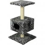 22012 Зооник Дом д/кошки на подставке (мех) 450*450*800