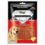 Wanpy Dog CA-04H-1 Лакомство для собак Куриная соломка с глюкозамином и хондратином 100гр