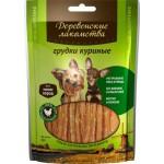 Деревенские лакомства 79711502 для собак мини-пород Куриные грудки 60гр