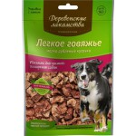 Деревенские лакомства 79711618 Традиционные для собак Легкое говяжье мелкое 30гр