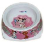 5619003 DEZZIE Миска для кошек 150мл 12,5*12,5*4,5см (пластик)