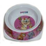 5619004 DEZZIE Миска для кошек 150мл 12,5*12,5*4,5см (пластик)